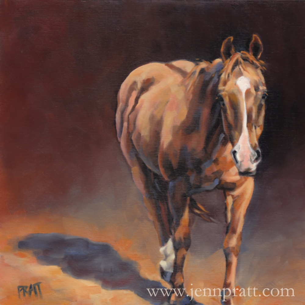 Sassy, 12x12 oil on canvas panel, commissioned artwork