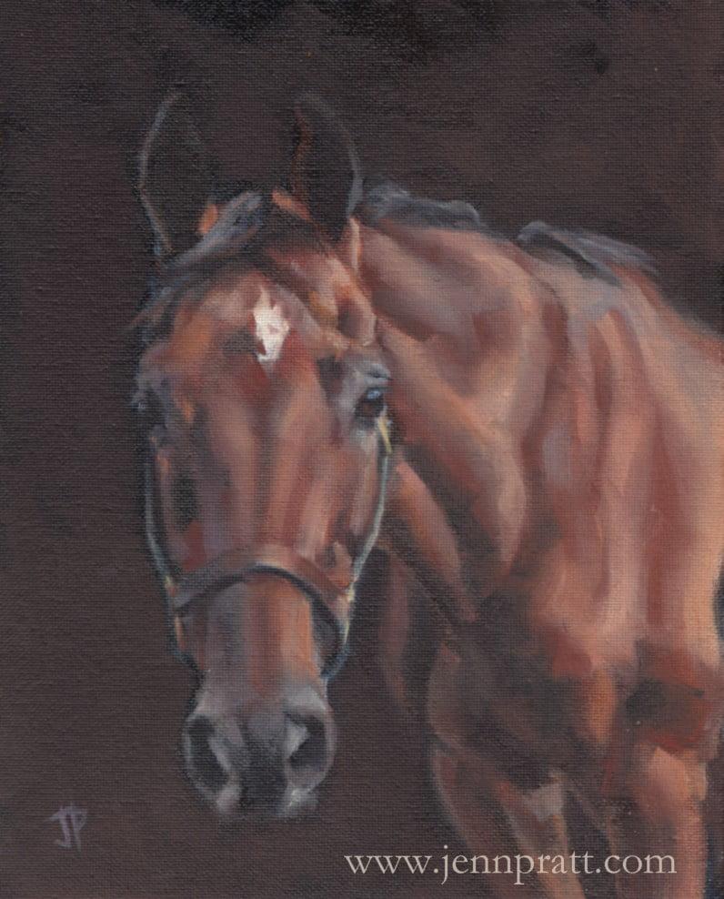Tigger, 8x10 oil on canvas panel