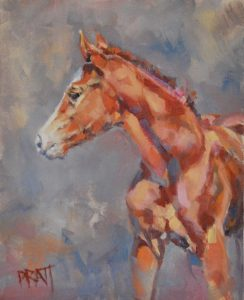Harriet at 6 days 8x10 Oil on Canvas Panel