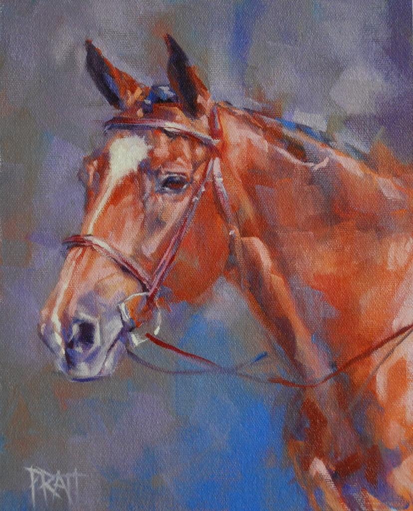 Commissioned horse painting, Jennifer Pratt