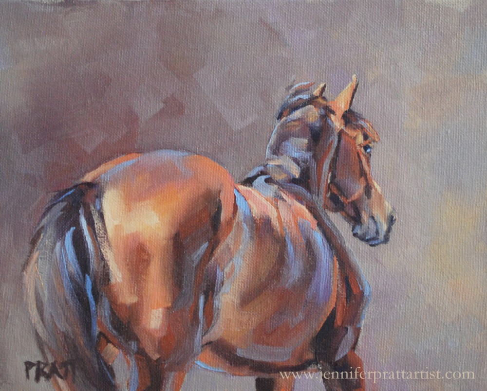 Angled Approach, 8x10, Oil on Canvas Panel, SOLD