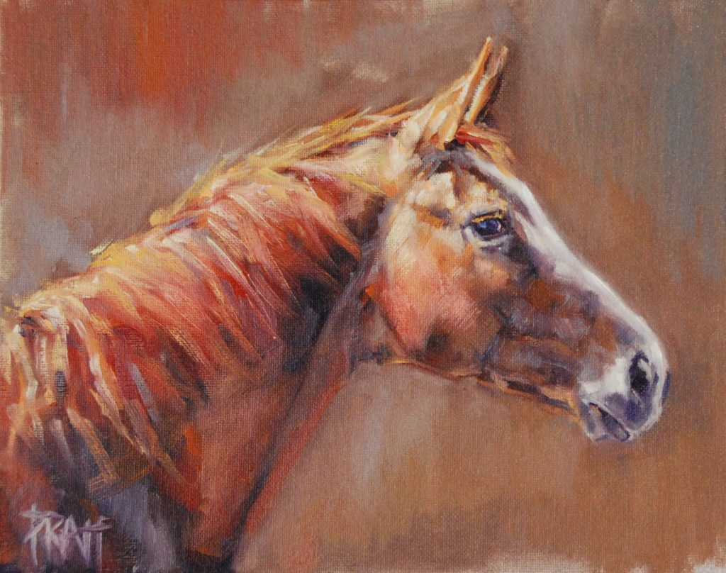 The Broodmare, 8x10, oil on canvas, unframed