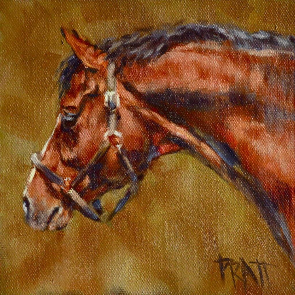 Stallion, Jennifer Pratt, Equine Art