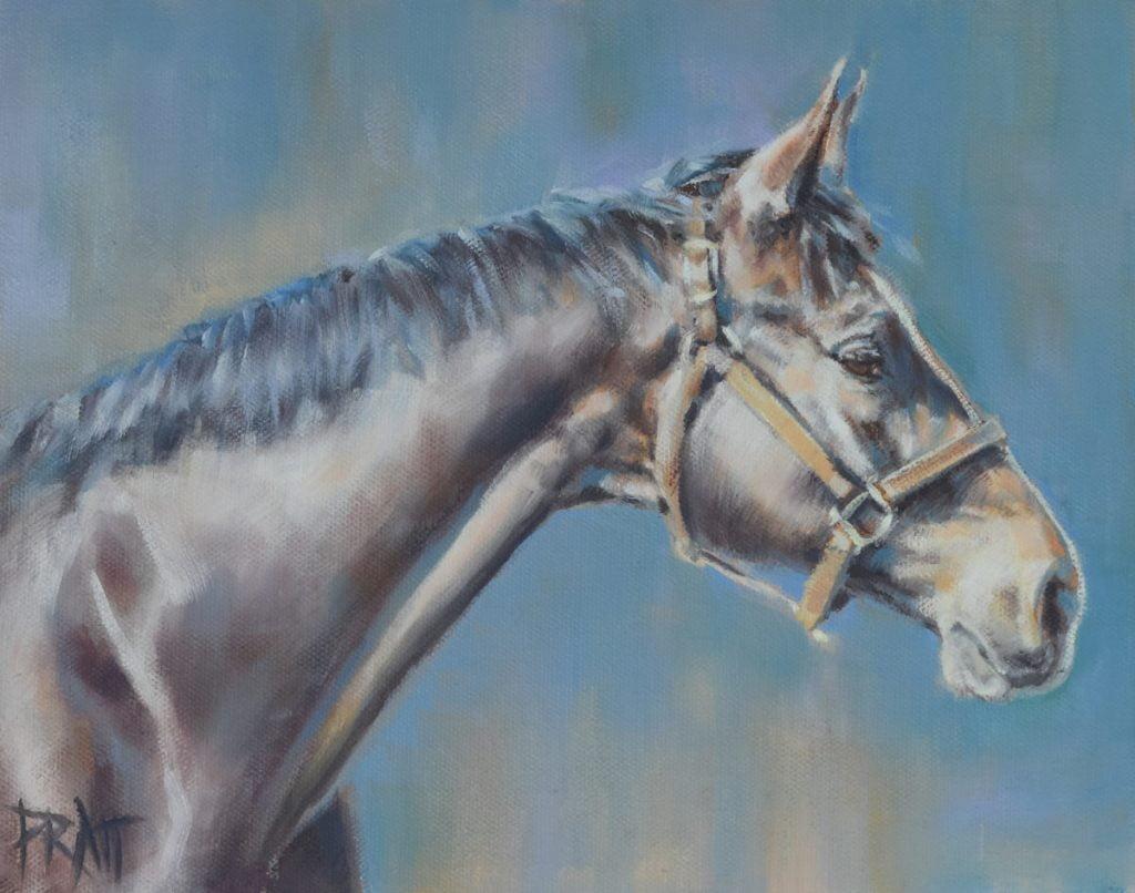 horse painting, equine art, Jennifer Pratt, horse art, sport horse