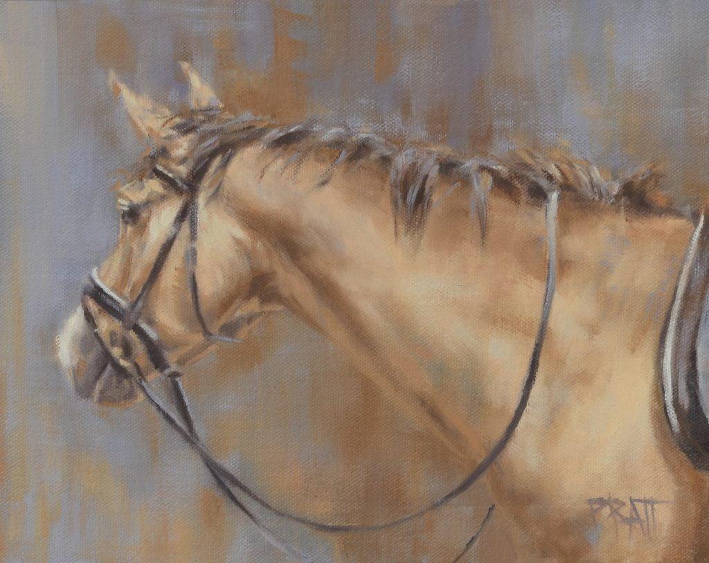 equine art, Jennifer pratt, horse painting, oil painting