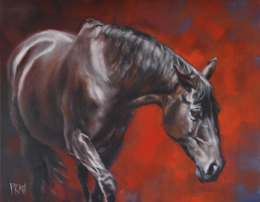 equine art, ©jenniferpratt, horse painting