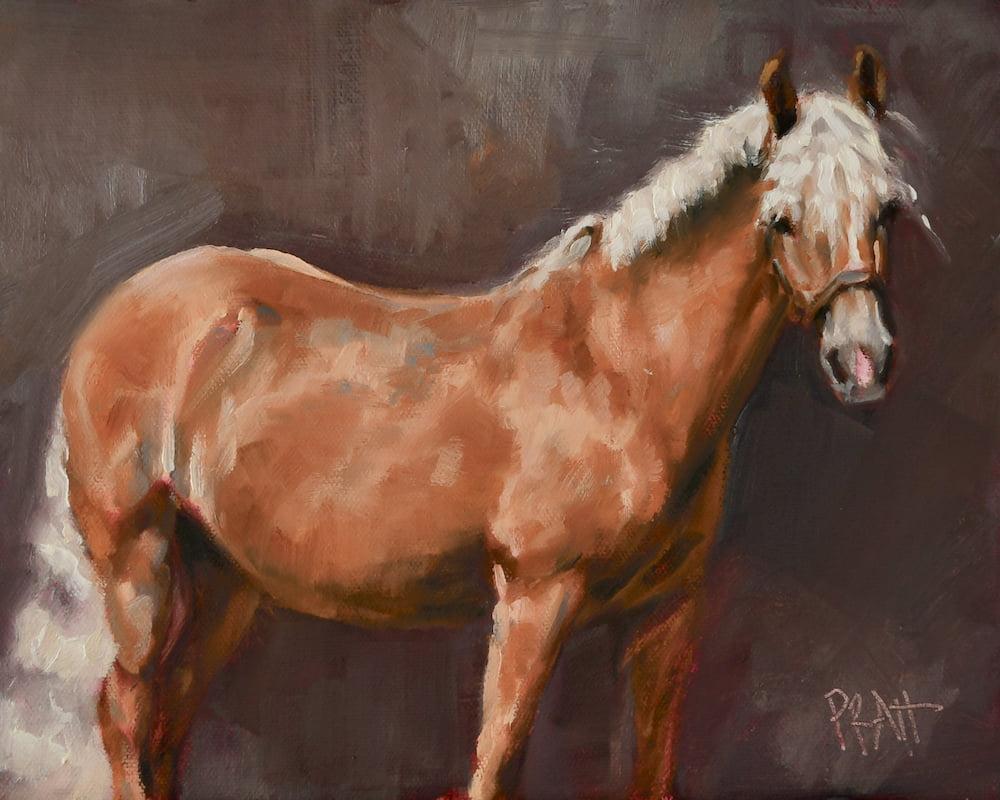 equine art, horse art, haflinger, Jennifer Pratt, chestnut mare