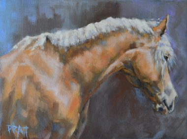 equine art-horse art-haflinger-jennifer Pratt
