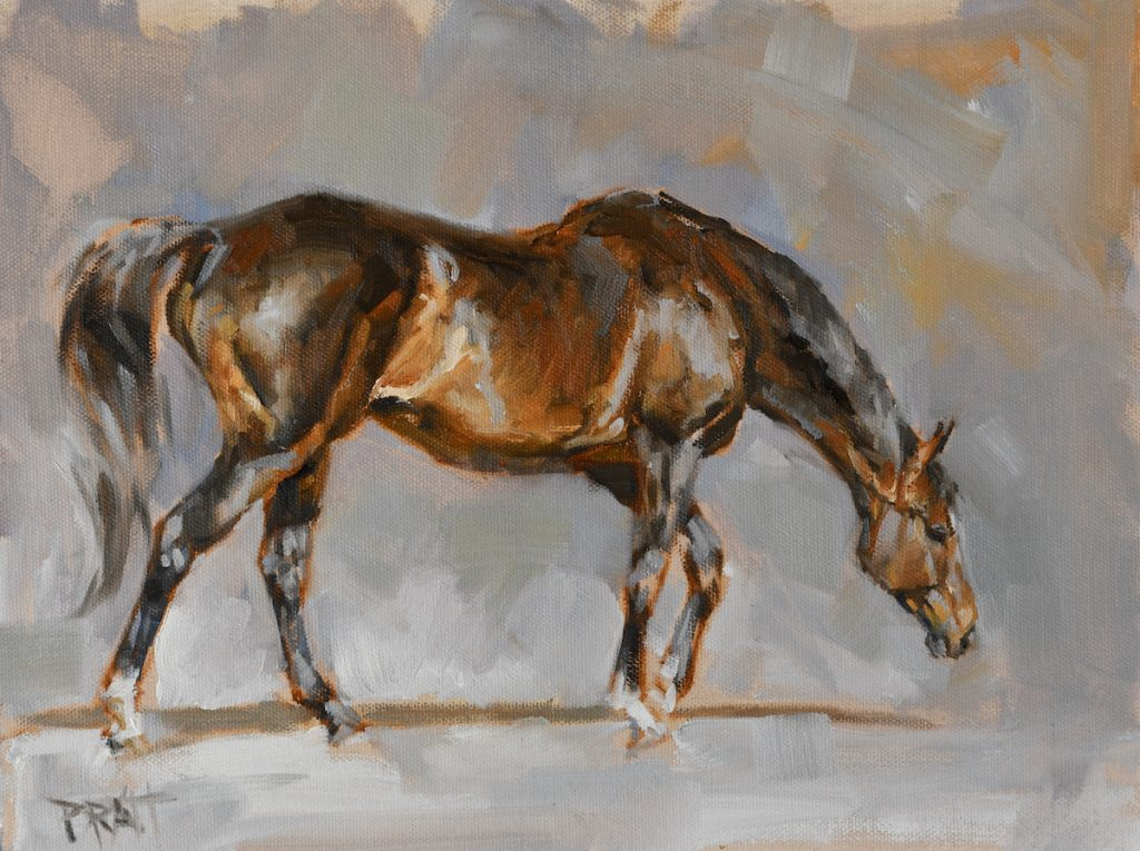 equine art-horse art-oil painting