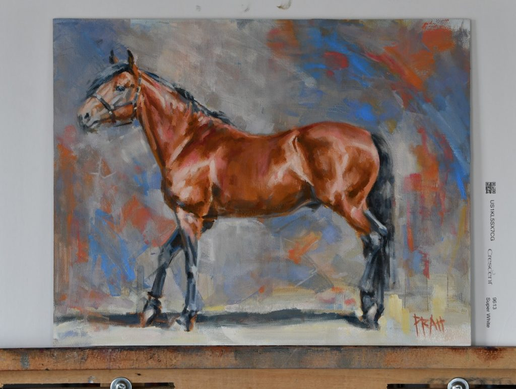 Irish-draught-stallion-oil-painting